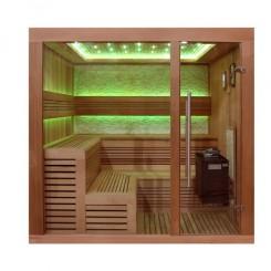 EO-SPA Sauna B1243B red cedar 200x180 cm. 9 kW EOS Bio-Thermat