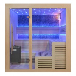 EO-SPA Sauna B1213A populier 220x200 cm. 9kW EOS BiO-Thermat
