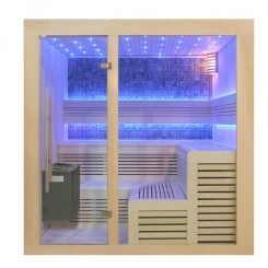 EO-SPA Sauna B1213B populier 200x200 cm. 9kW EOS BiO-Thermat
