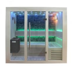 EO-SPA Sauna B1216A populier 200x120 cm. 9kW EOS BiO-Thermat