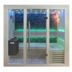 EO-SPA Sauna B1216B populier 180x120 cm. 9kW EOS BiO-Thermat