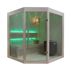 EO-SPA Sauna B1219A populier 160x160 cm. 9kW EOS BiO-Thermat