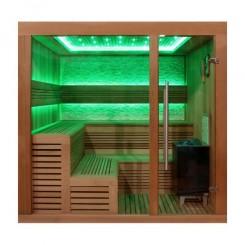 EO-SPA Sauna B1243XL red cedar 220x220 cm. 9 kW EOS Bio-Max