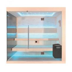 EO-SPA Sauna B1245B populier 250x180 cm. 9kW EOS BiO-Thermat