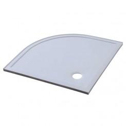 EAGO Douche LX1000R douchebak (mineraal gegoten) wit kwartrond 100x100 cm.