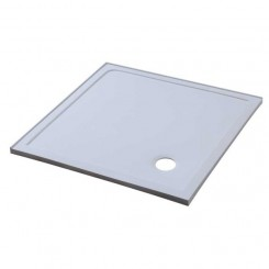 EAGO Douche LX1000S douchebak (mineraal gegoten) wit 100x100 cm. hoek versie