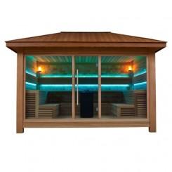 AWT Sauna LT1400C red cedar 350x350 10.8kW Vitra combi