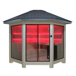 EO-SPA Sauna LT1101A populier 350x350 cm. 10.8kW Vitra