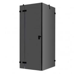 EAGO Douche LAS1000-B zwart 100x100 cm. links