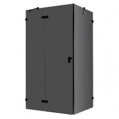 EAGO Douche LAS1200-B zwart 120x90 cm. links