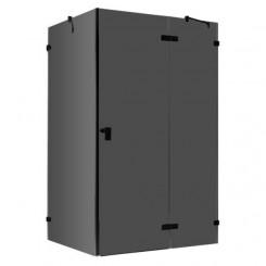 EAGO Douche LAS1500-B zwart 150x90 cm. rechts