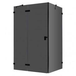 EAGO Douche LAS1500-B zwart 150x90 cm. links