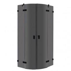 EAGO Douche LAR1001-B zwart 100x100 cm.