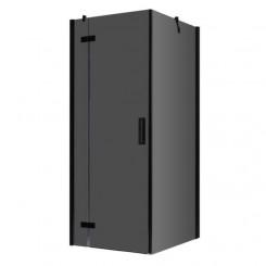 AWT Douche LBS0905-B zwart 90x90 cm. links