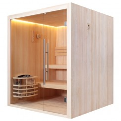 EO-SPA Sauna E1802 pine 180x180 cm. zonder oven