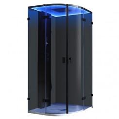 AWT Stoomdouche LD109F15 zwart 100x100 cm.
