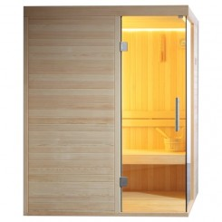AWT Sauna E1804B pijnboomhout 150x120 cm. 6kW Vega