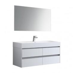 STONEART Badkamermeubel Mailand ML-1200 wit glanzend 120x48 cm.