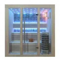AWT E1215C sauna populier 210x140 cm. 9kW Cilindro