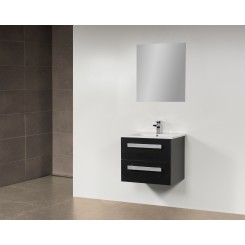 Q class meubel 60 cm black wood natuursteen blad