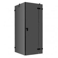 AWT Douche LAS1000-B zwart 100x100 cm. rechts