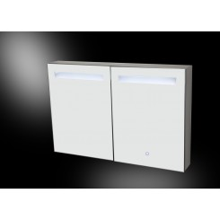 Aluma spiegelkast incl. LED verlichting 80x60 cm.