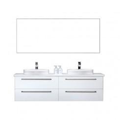 Badkamermeubel EAGO Neapel NA-1600 wit met wit blad