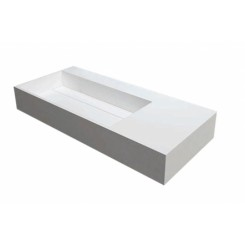 Solid surface wastafel Q 90 cm.
