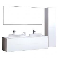 Badkamermeubel EAGO Toscana TC-1600 wit met wit blad
