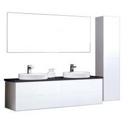 Badkamermeubel EAGO Toscana TC-1600 wit met zwart blad