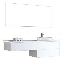 Badkamermeubel EAGO Toscana TC-1601 wit met wit blad